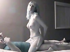 Slut wife talking with hubby and stranger cuckold