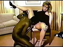Wife fucks black bull at home