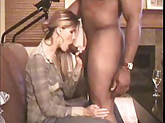 Husband gives wife black stud as birthday present